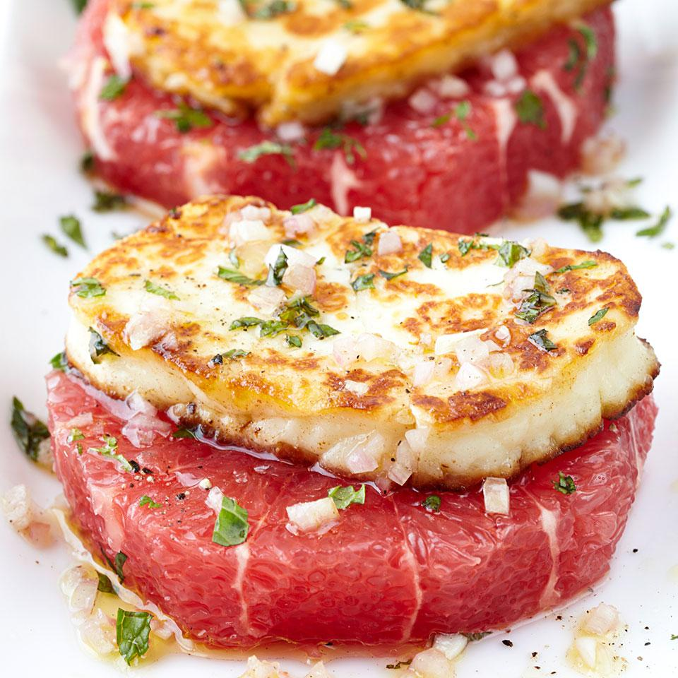 Grilled Halloumi with Grapefruit | So Delicious